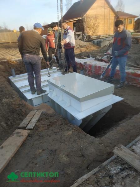 Монтаж пластикового погреба Рус Б-5