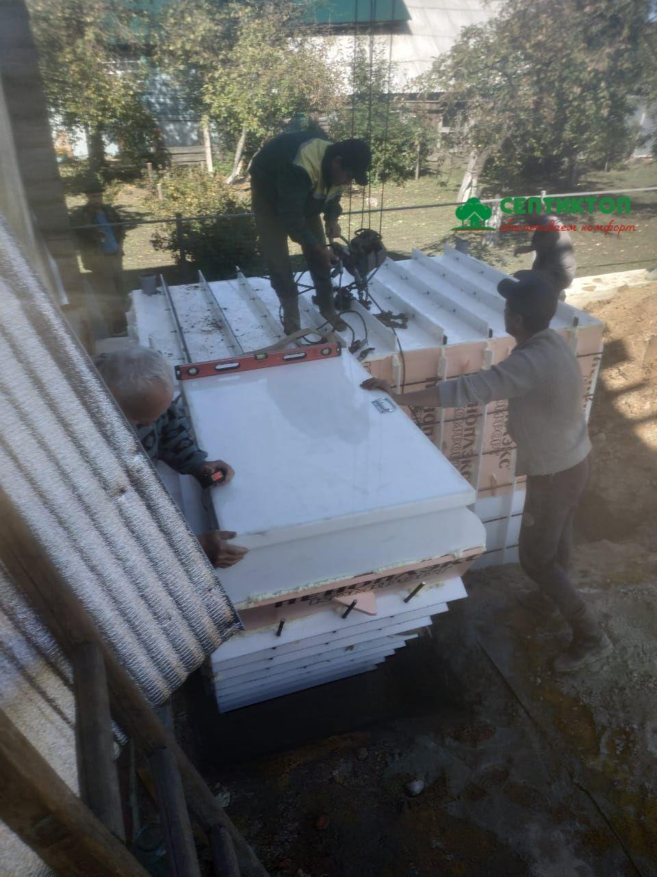 Монтаж погреба Рус Б-5 август 2019