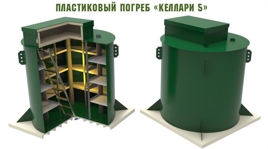 пластиковый погреб келлари 5